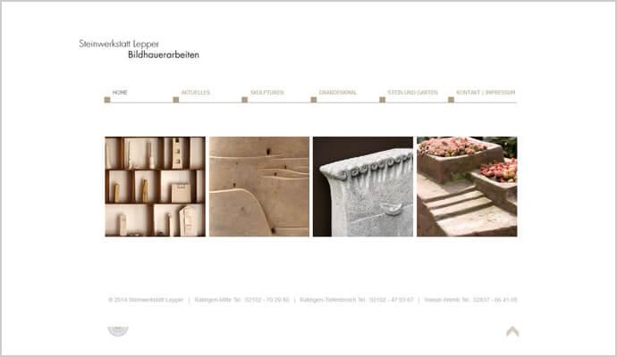 Beispiel Webseite von greme.de - Steinwerkstatt Lepper